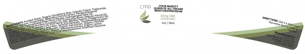 CBD Your Majesty Queen of all Creams Moisturizing Cream – 20mg
