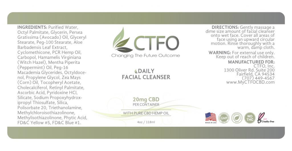 CBD Daily Facial Cleanser