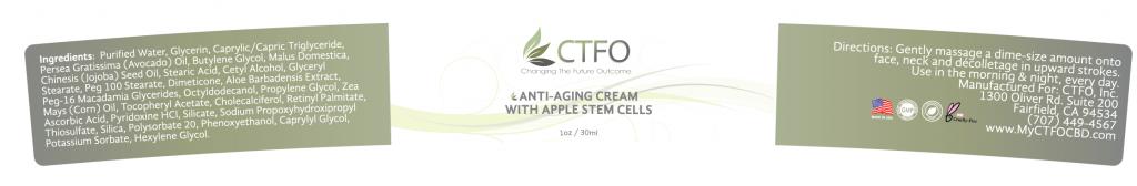 NON CBD Anti-Aging Cream with Apple Stem Cells