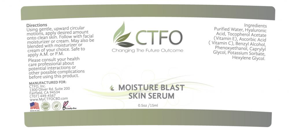 NON CBD Moisture Blast Skin Serum