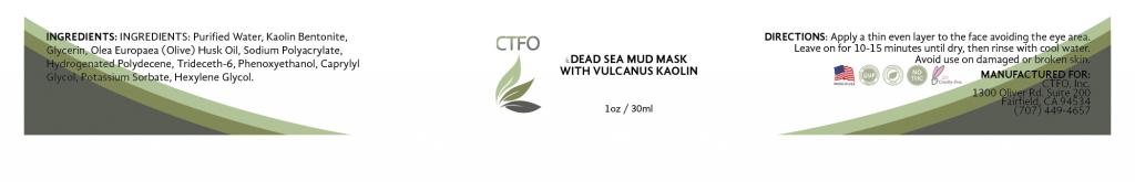 NON CBD Dead Sea Mud Mask with Vulcanus Kaolin