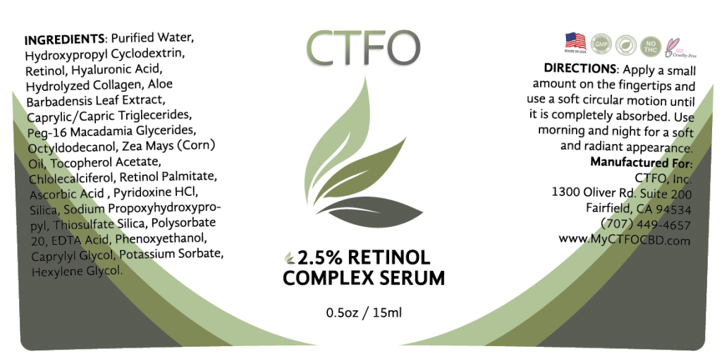 NON CBD 2.5% Retinol Complex Serum