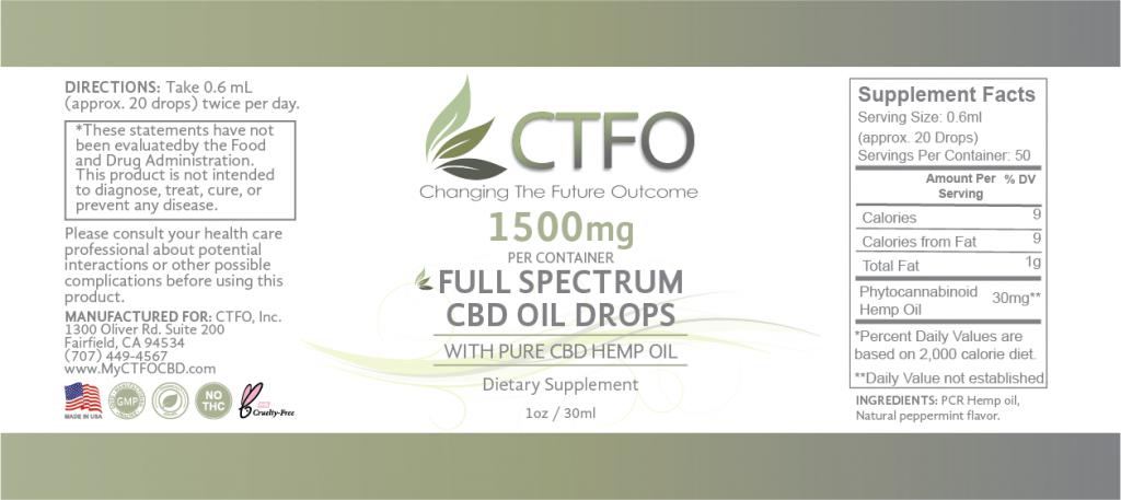 Full Spectrum CBD Oil Drops - 1500mg