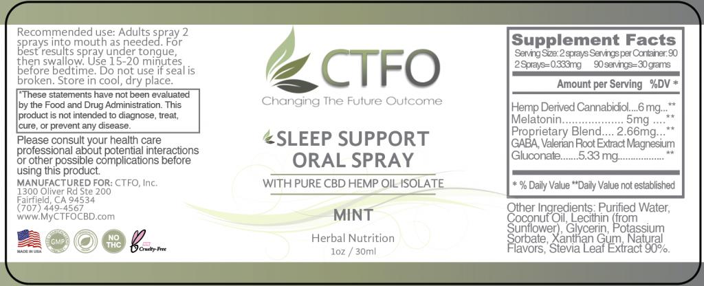 CBD Sleep Support Oral Spray - 30ml