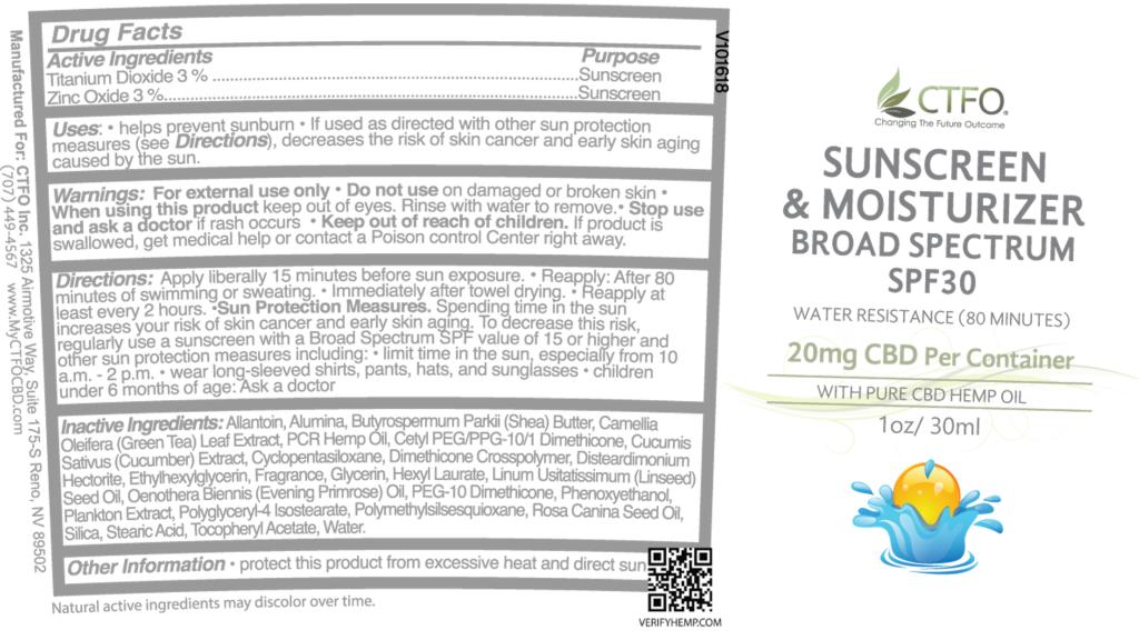 Sunscreen & Moisturizer - SPF 30