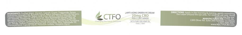 Anti-Aging Under Eye Cream